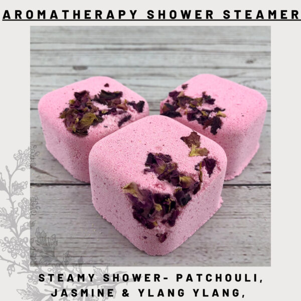 patchouli, jasmine & ylang shower steamers