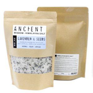 Himalayan Bath Salt-Lavender & Seeds
