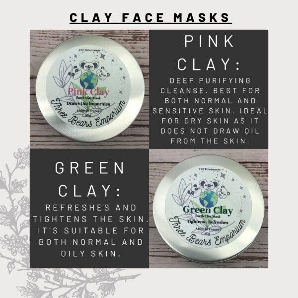 Pink and Green Clay mask