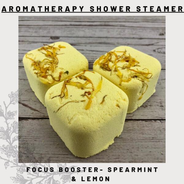 spearmint & lemon shower steamers