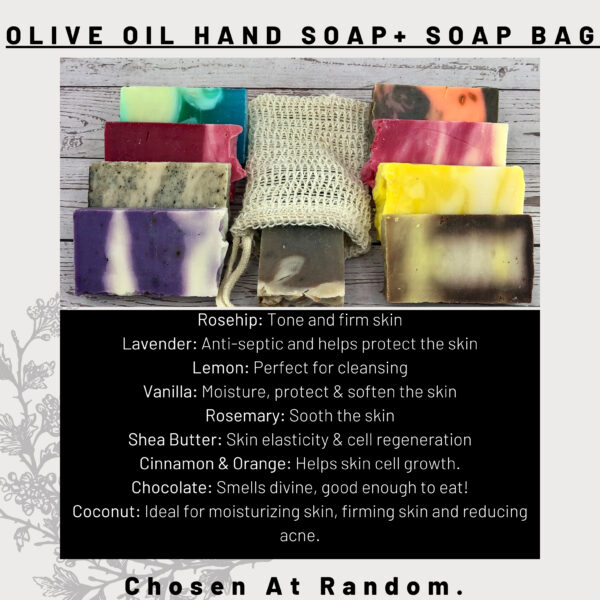 Olive Oil Hand Soap with Soap Bag